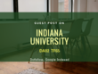 Indiana University IU.edu DA84 Guest Post - Permanent Guaranteed
