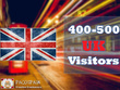 Send 400+ UK Targeted Visitors for 30 Days with low bounce rate