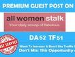 High authoruty guest post on fashion site allwomenstalk. Com