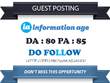 Publish Guest Post on Information-age.com DA 80 Dofollow