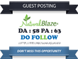 Publish Guest Post on Naturalblaze.com  - DA 58 Dofollow