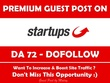 Write & Publish Guest Post on StartUps. Startups.co.uk - DA 72