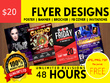 Get best of 2018 an outstanding flyer design, brochure, poster