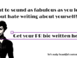 Write a 300 word biography for you - Great for PR!