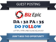 Publish Guest Post on Bizepic - Bizepic.com - DA 32 Dofollow
