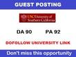 Guest post on my California edu university blog (usc.edu) ,DA 90