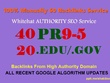 Manually Do 40 PR9-5 & 20 EDU/GOV Safe SEO High Pr Backlinks