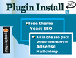 Install Any theme and SEO plugin in WordPress Within one hour