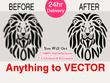 Vectorise logo, convert image to vector in 24 hours