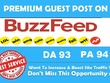 Publish an article on buzzfeed DA,93, PA 94