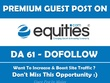 Publish Guest Post on Equities. Equities.com - DA 61 PA 66