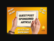 I will guest post backlink article dofollow on my pa70 da62