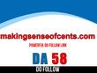 Guest post on makingsenseofcents – makingsenseofcents.com – DA58
