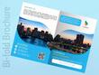 Design flyer, brochure, catalog, booklet, magazine and postcard