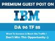 Publish dofollow guest post on IBM Da 97