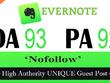 "Write and publish UNIQUE Guest Post on ""EVERNOTE"" DA-93"