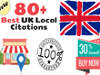Manually Build 80+ UK SEO Citation Link as per Google Guide 2018
