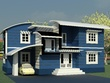 Design 3D model of residential building  by Autodesk Revit