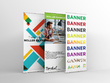 Design Creative 300dpi Print Ready Roller Banner / pop up stand
