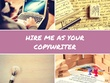 Provide an amazing copywriting service for your business