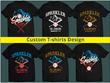 Design typography custom t-shirt professionally