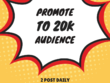 Promote to 20K Community with complimentary service