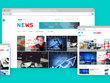 Setup and design a news or blog website