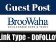 Publish Guest Post Broowaha And Da 65 Blog