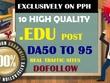Write and Post 10 High Quality EDU DA 50 TO 95 Dofollow Post
