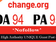 "Write and publish UNIQUE Guest Post on ""Change"" DA-94"