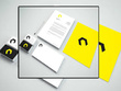 Design logo + business card + letter head + envelope +  Flyer