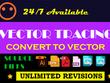 Convert, vectorize, vector logo, vector tracing logo, jpg