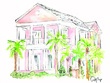 Paint a beautiful watercolor of your home