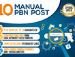 Provide 10 Manual HIGH TF DA PA 25+ to 10 Dofollow PBN Backlinks