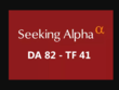 I will publish a guest post on seekingalpha DA82