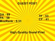 Publish A Guest Post With Do-Follow Link On DA 69/PA 58/TF 53