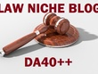 Guest post on Law niche DA40 blog
