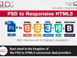 PSD To Responsive HTML5,+CSS3,+Jquery Web Page using Bootstrap 4