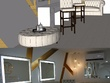 Make a 3d floor plan of 100m2 with interior styling NO RENDER