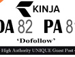 "Write and publish UNIQUE Guest Post on ""KINJA"" DA-94"