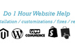 Do 1 Hour Website Customization / Error Fixes / Updates