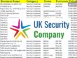 Give you 2300 uk security companies contact