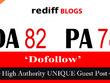 """Write and publish UNIQUE Guest Post on """"Rediff Blog"""" DA-82"""