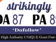 """Write and publish UNIQUE Guest Post on """"STRIKINGLY"""" DA-87"""