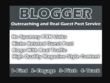 I will do niche related blogger outreaching for quality guest