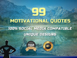 Create 99 motivational quotes to boost your social media