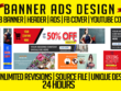 Design Google ads, web banners or social media cover