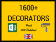Provide UK Decorators Database of 1600+ Records in Excel Format