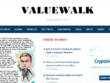 Write & Publish Guest Post on ValueWalk.com - DA75