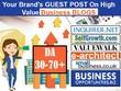 Offering Guest post services on Business Blogs DA 30-70+